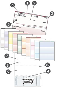 riteway business forms and digital printging checks, rite check program, variable data printing, and clear dry ink